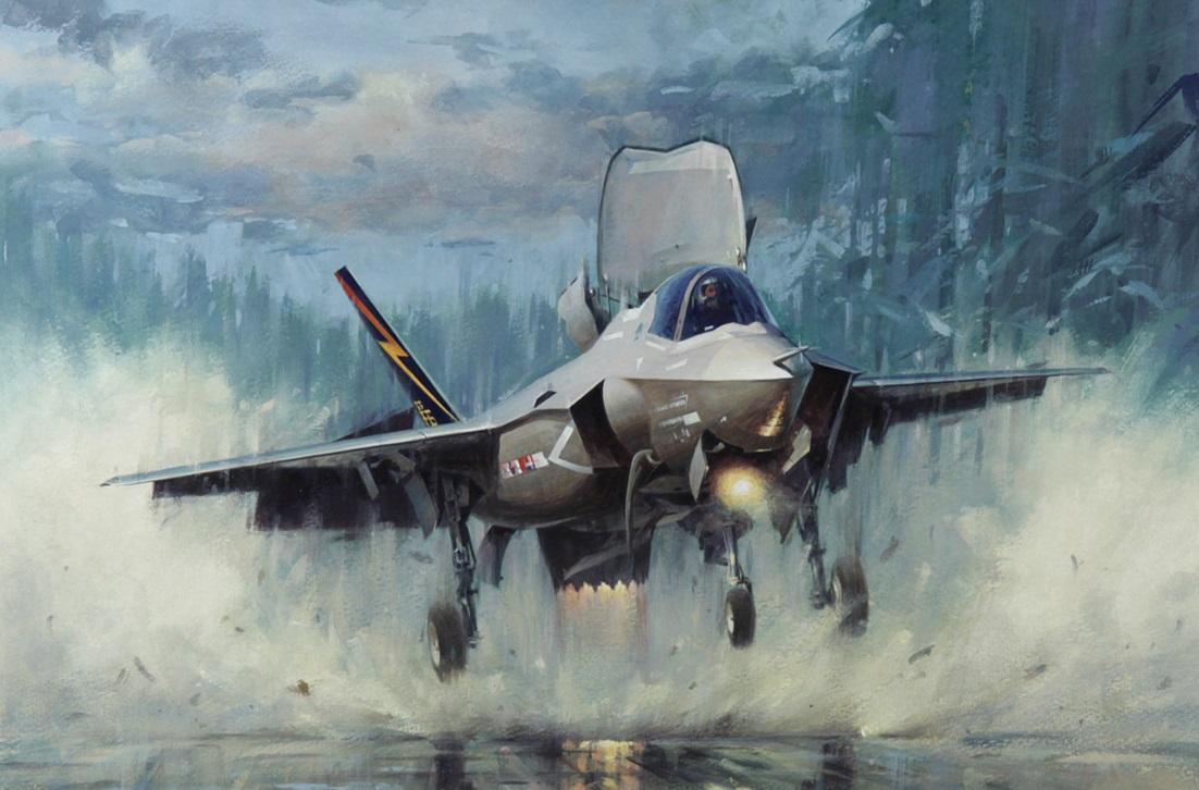 Обои «лайтнинг» ii, F-35, Lockheed, Самолёт. Авиация foto 19