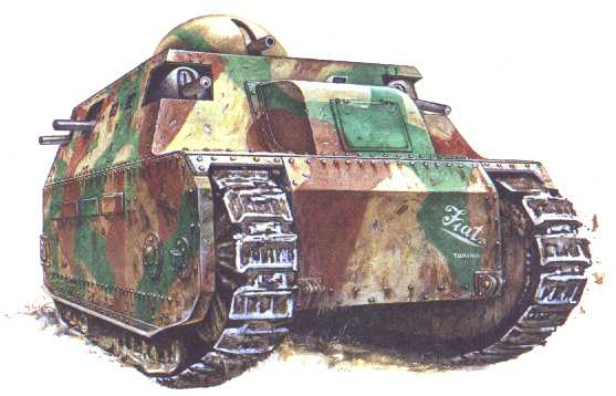 Fiat 2000 — первый танк Италии