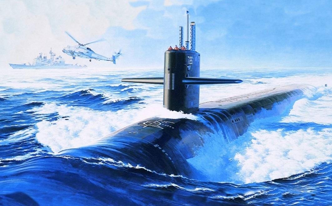 С 23 февраля открытка с подводной лодкой